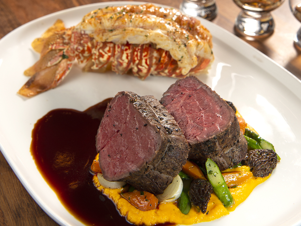 The banner image for Father's Day Weekend showing a beef tenderloin and a lobster