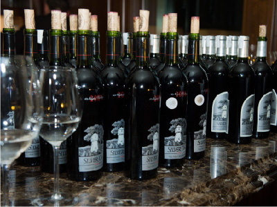 A selection of the unique wines available from the 11,000-bottle cellar at The Ranch.