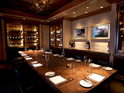 The Carolina Room offers full dining and bar service for private meetings and events such as rehearsal dinners.